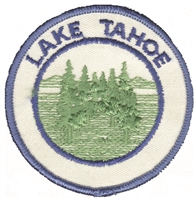 TAHOE-48 - Lake Tahoe trees souvenir embroidered patch