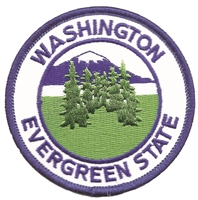 WA-48 - WASHINGTON EVERGREEN STATE souvenir embroidered patch