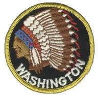 WA-61 - WASHINGTON indian souvenir embroidered patch
