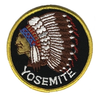 YOSEMITE-61 - YOSEMITE indian chief souvenir embroidered patch