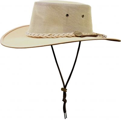 h1057 - Drover canvas hat with mesh crown
