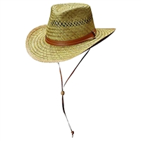 safari style rush straw hat