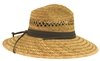 s388 - rush wide brim safari style straw hat
