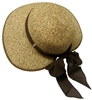 floppy straw hat with inside draw string