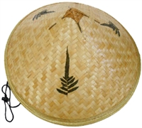 sHW23588 - bamboo coolie rice picker straw hat