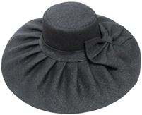 sHW23622 - ladies wide brim straw hat: black, brown, cream, or beige