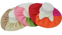 sHW23622C - ladies wide brim straw hat assorted summer colors