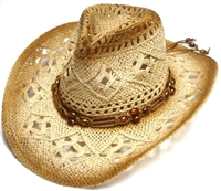 sKST-0111 kids straw cowboy hat