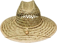 Size 3X lifeguard straw hat with chin cord
