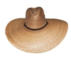 "Pinched front better quality palm leaf sombrero with chin cord. 5.5"" brim."