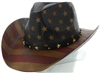 US flag straw cowboy hat -sST-070-BROWN