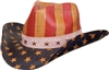 sST10-A - US flag cowboy straw hat
