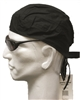 black cotton headwrap (doo-rag, du-rag, durag, kerchief)