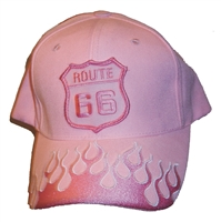 ROUTE 66 pink flame fire cap