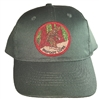 #121825/12450 - BIGFOOT LIVES Dark Green cotton cap with velcro adjust.