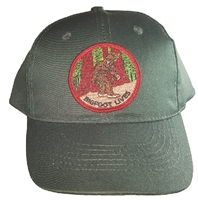 BIGFOOT LIVES Dark Green cotton cap with velcro adjust.