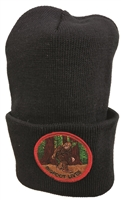 BIGFOOT LIVES black knit beanie