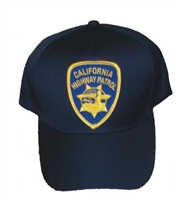 CALIFORNIA HIGHWAY PATROL patch sewn on cap