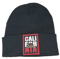 CALI FOR NIA black knit beanie