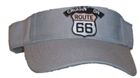 CRUISIN ON ROUTE 66 grey visor