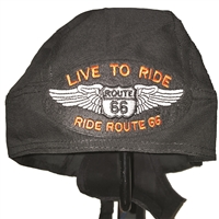 #66LIVE32/w01 - LIVE TO RIDE ROUTE 66 headwrap