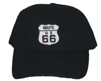 #6877/17401 - ROUTE 66 black low profile cap