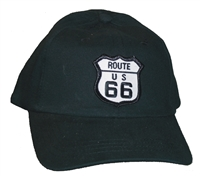 Kids low profile black cap with Route 66