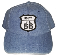 ROUTE 66 on kids denim cap