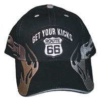GET YOUR KICKS ON ROUTE 66 Flame fire cap