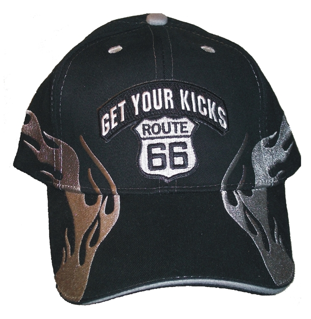 #6894/1305801 -GET YOUR KICKS ON ROUTE 66 Flame fire cap
