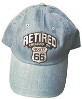 RETIRED, CRUISIN' ON ROUTE 66 Low profile denim cap