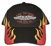 #810232/11501 - LIVE TO RIDE US 101 on flame cap