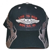 #810232/1305801 - LIVE TO RIDE, RIDE US 101 flame cap