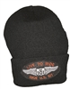 #810232/18201 - knit beanie with LIVE TO RIDE US 101