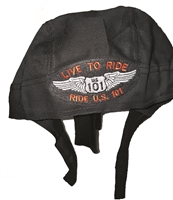 #810232/w01 -  headwrap with LIVE TO RIDE US 101