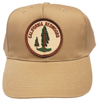 #CA081725/12460 - CALIFORNIA REDWOODS cotton khaki cap
