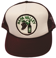 "NAPA VALLEY wine & grapes poly-mesh ""trucker"" cap"