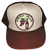 "SONOMA VALLEY wine & grapes poly-mesh ""trucker"" cap"
