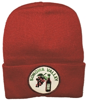 SONOMA VALLEY wine & grapes knit beanie