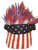 US flag BAD HAIR DAY visor: red,white,blue hair