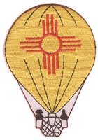 zia-15 - New Mexico zia hot air balloon souvenir embroidered patch