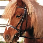 Barefoot Devon Pony Bridle (Black/lightblue or Brown/pink)