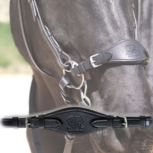 Black Leather Nose S Hackamore with Curb Strap Hack New Western Horse