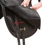 Barefoot Treeless Dressage Saddle Knee Rolls