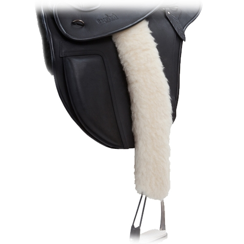 BR Stirrup Leather Buckle Covers Velcro Black