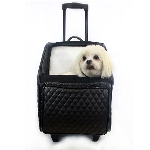 f305e4fb8 Quilted Luxe Rio Bag, Pet Carrier On Wheels, Petote Dog Bag ...