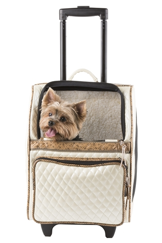 423ea56423 Quilted Luxe Rio Bag, Pet Carrier On Wheels, Petote Dog Bag ...