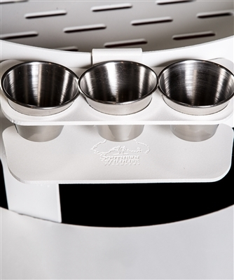 Sauce Boss Condiment Cup Holder Oyster Table Accessory - Condiment holder for table