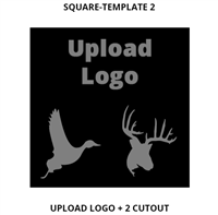 Custom Sign Square Template 2
