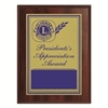 Plaque Presidents Appreciation Award - 6 x 8 inch